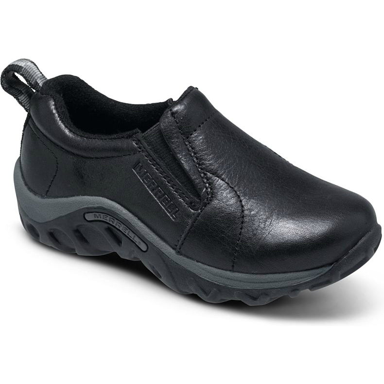 black leather merrell shoes