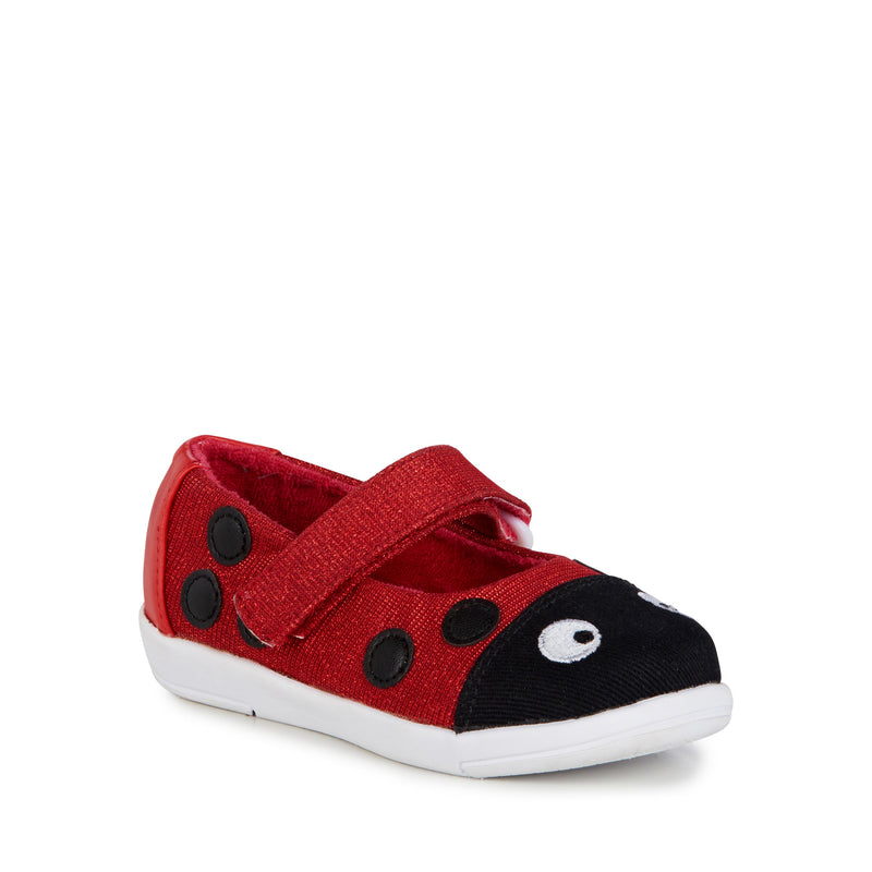 Emu Red Ladybug Ballet Mary Jane