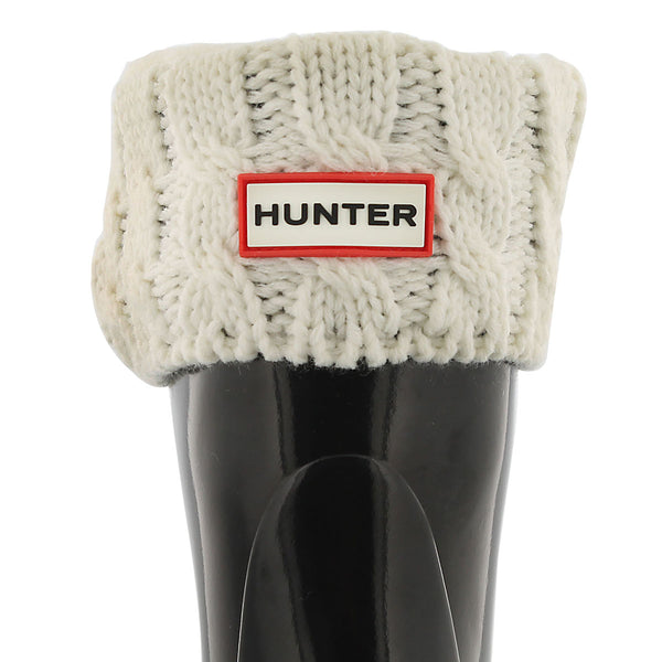 Hunter Natural White Original Kids 6 Stitch Cable Boot Sock