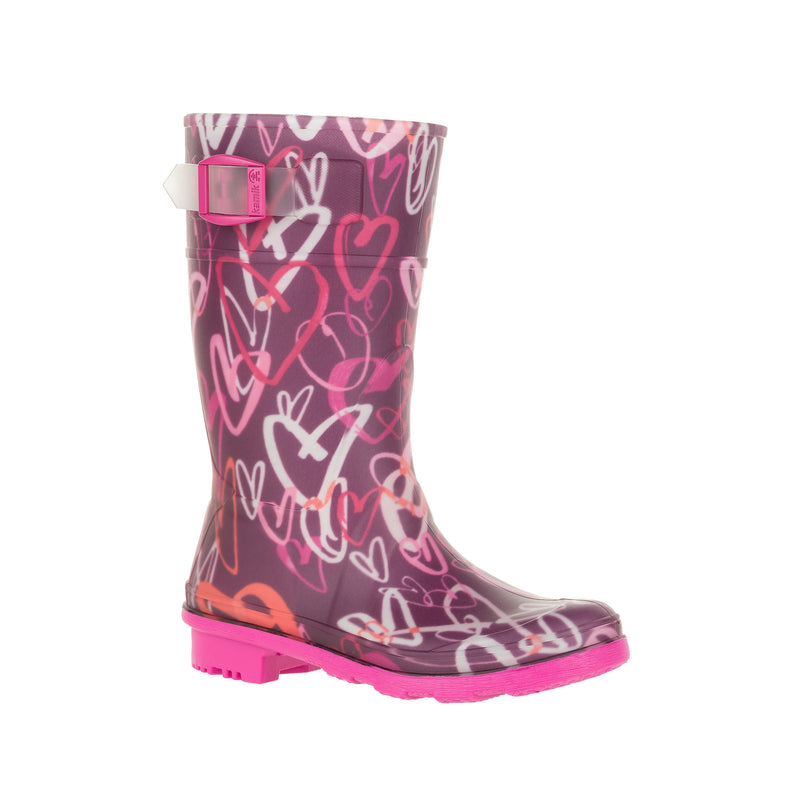 Kamik Dark Purple Scribble Rainboot