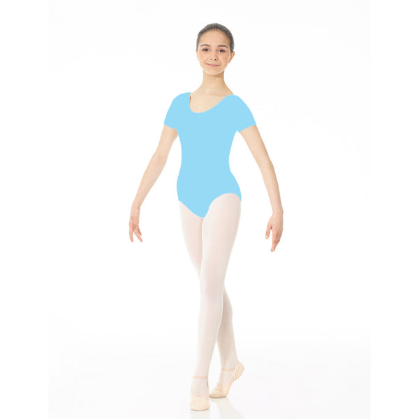 Mondor Essentials Coppen Blue Short-Sleeved Leotard