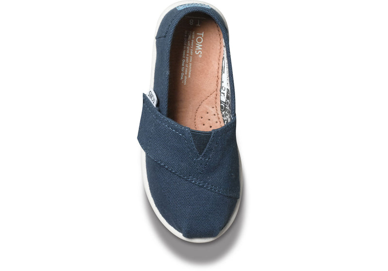 TOMS Navy Canvas Classic Slip-On