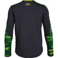 Under Armour Black/High-Vis Yellow ColdGear Printed Crew