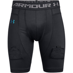 Under Armour Black/Iridescent Foil Hockey Fitted Short