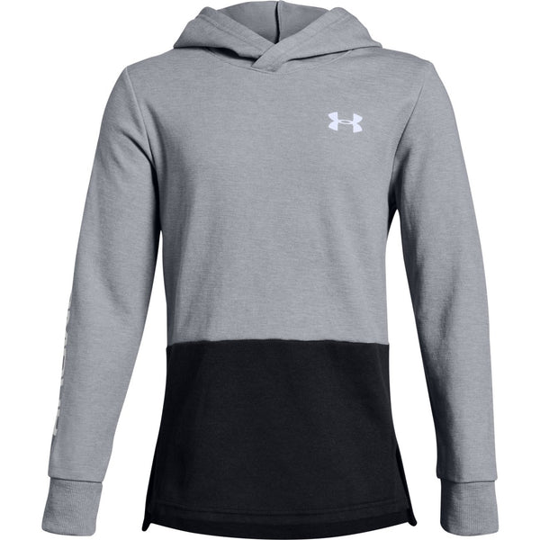 9cfbad5eb Under Armour Steel Light Heather Unstoppable Double Knit Hoody