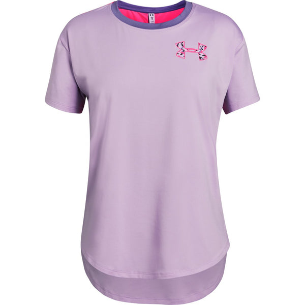 Under Armour Purple Ace HeatGear Short-Sleeved Tee