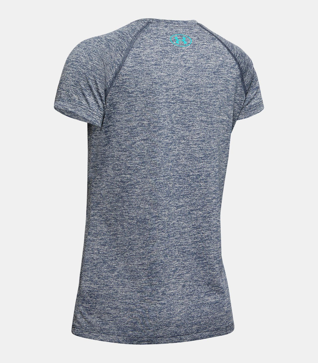 Under Armour Downpour Grey/Breathtaking Blue Big Logo Twist Tee