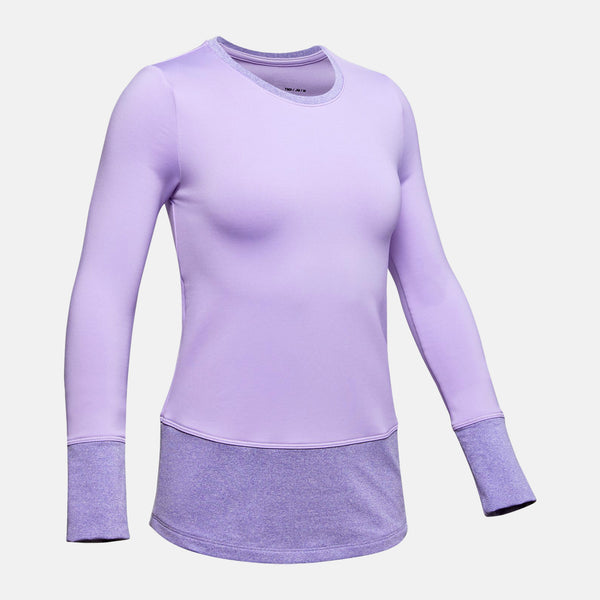 Under Armour Purple Crest ColdGear L/S Tee