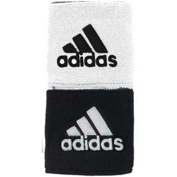 Adidas Interval Black/White Reversible Wristbands