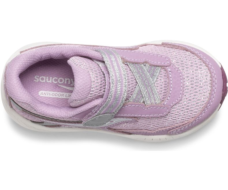 Saucony Pink Metallic Ride 10 Baby/Toddler Sneaker