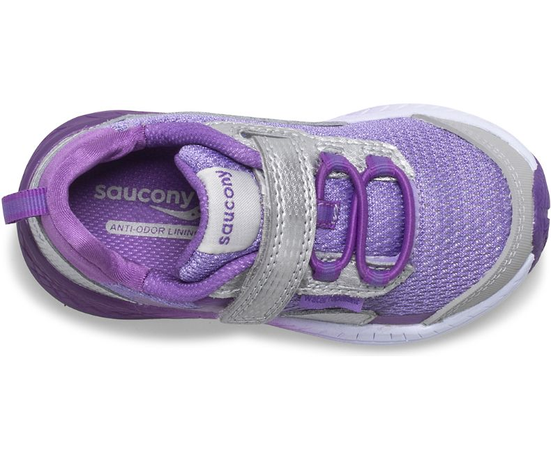 Saucony Silver/Purple Wind Shield Baby/Toddler Sneaker