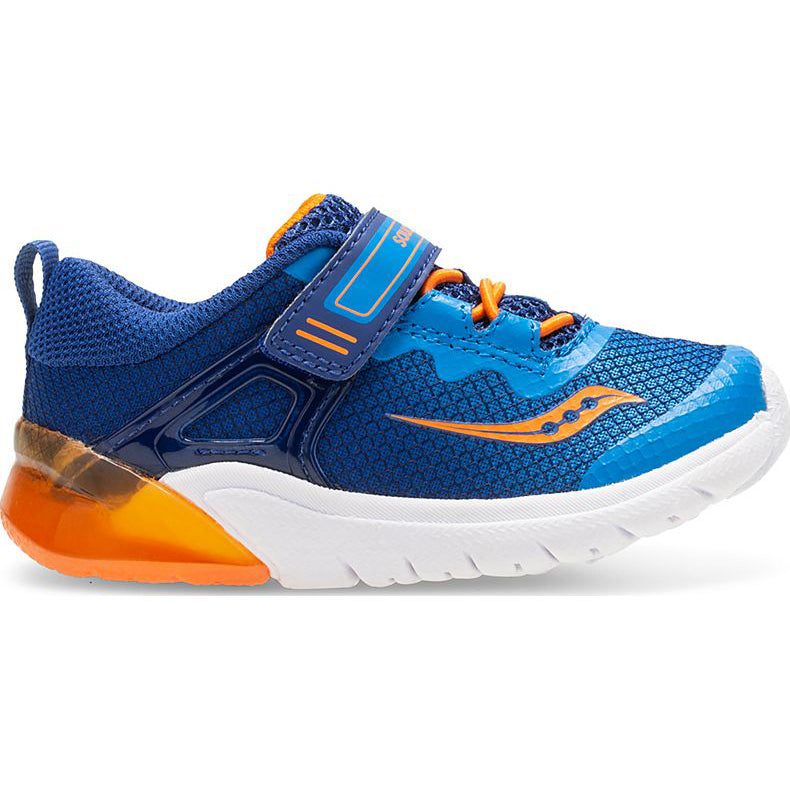 Saucony Blue/Orange Flash Glow Jr Toddler Sneaker