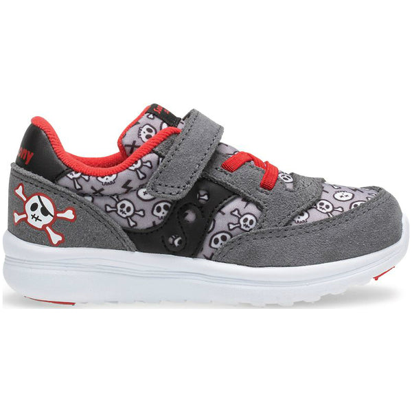 Saucony Grey/Pirate Red Baby Jazz Lite Sneaker