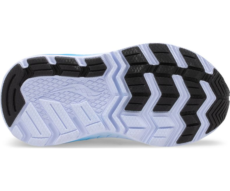 Saucony Grey/Blue/Black Ride 10 Baby/Toddler Sneaker