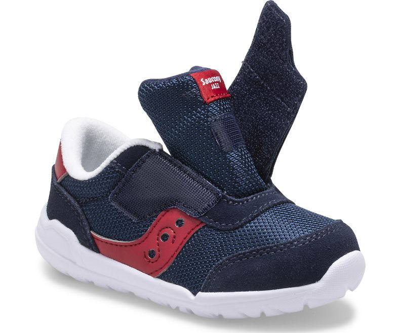 Saucony Navy/Red Jazz Riff Baby/Toddler Sneaker