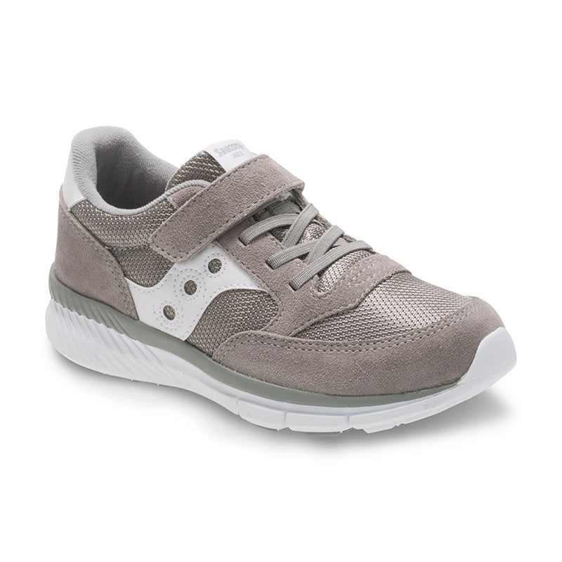 Saucony Grey/White Jazz Lite A/C Children's Sneaker