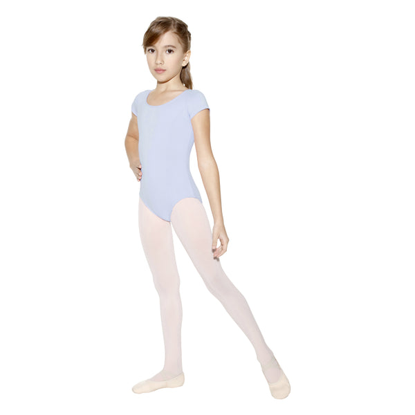 So Danca Light Blue Short-Sleeved Leotard