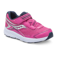 Saucony Pink/Silver Ride 10 Jr A/C Toddler/Little Kid Sneaker