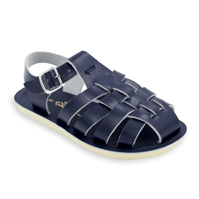 Salt Water Sandals Navy Blue Sailor Toddler Sandals