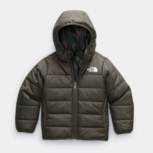 The North Face New Taupe Green Reversible Toddler Perrito Jacket