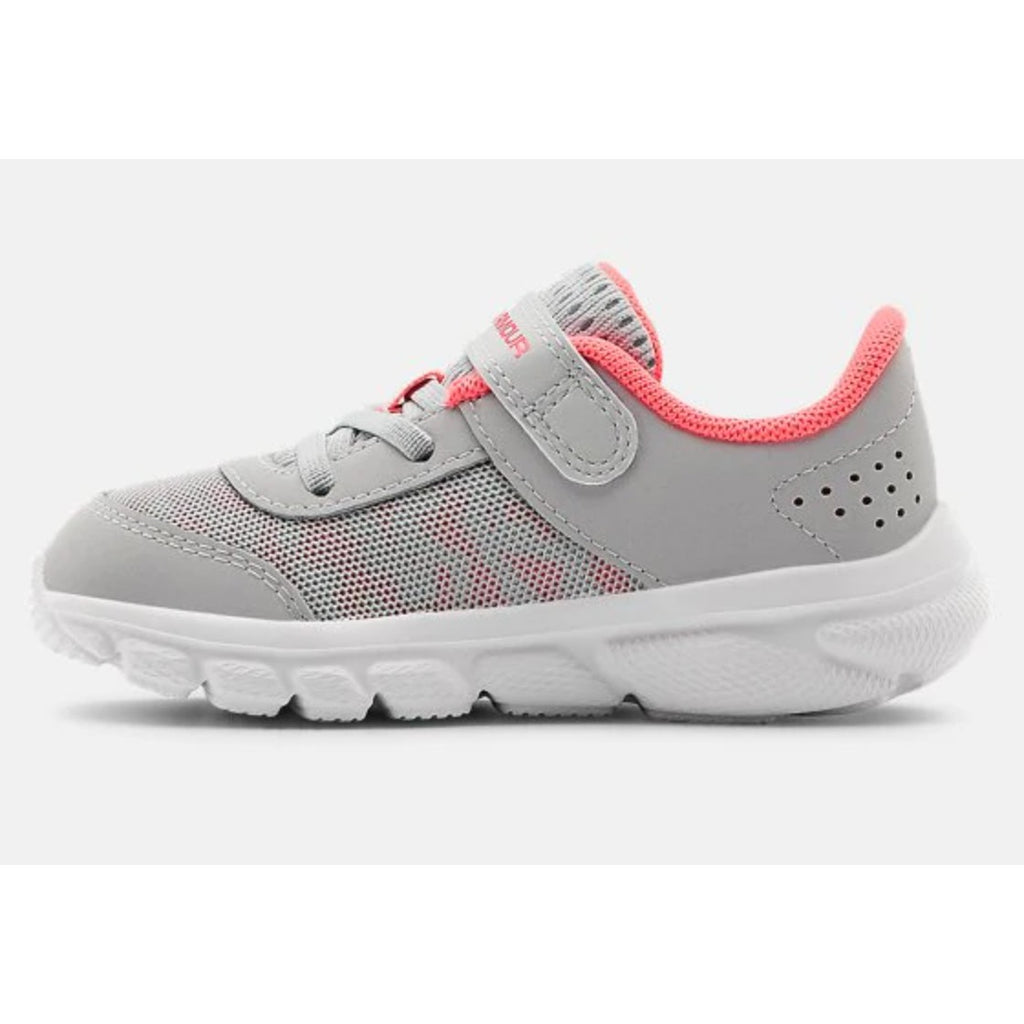 Under Armour Halo Grey/White/Cerise Assert 8 Baby/Toddler Sneaker