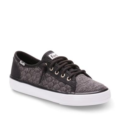 Keds Double Up Black Quilted Sneaker