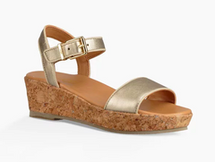 UGG Metallic Gold Milley Little/Big Kid Sandal
