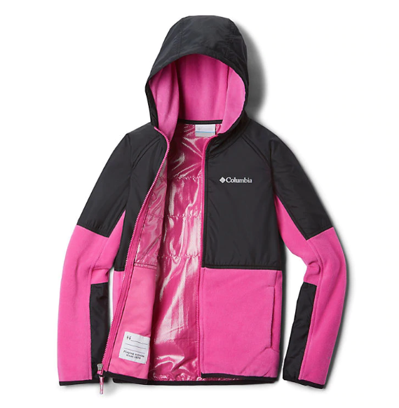 Columbia Pink Ice/Black Basin Butte Fleece Full Zip