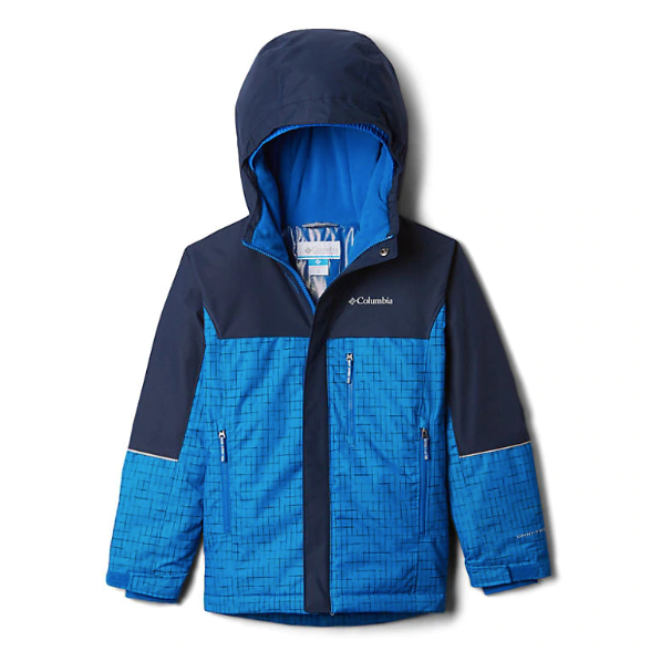 Columbia Super Blue Check Mighty Mogul Jacket