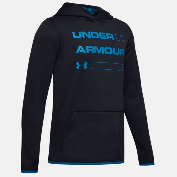 Under Armour Black/Teal Vibe Fleece Wordmark Hoody