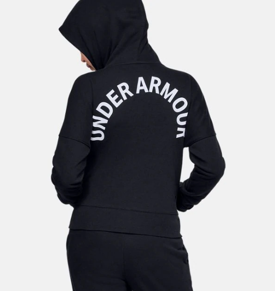 Under Armour Black/White Rival Full-Zip Hoodie