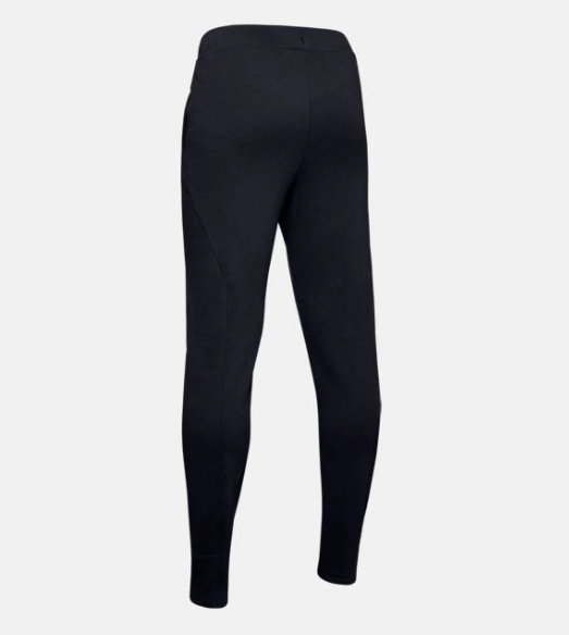 Under Armour Black/White Rival Solid Jogger
