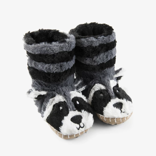 Little Blue House Racoon Slippers