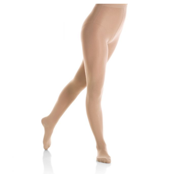 Mondor Adult Light Tan Footed Skating Tights
