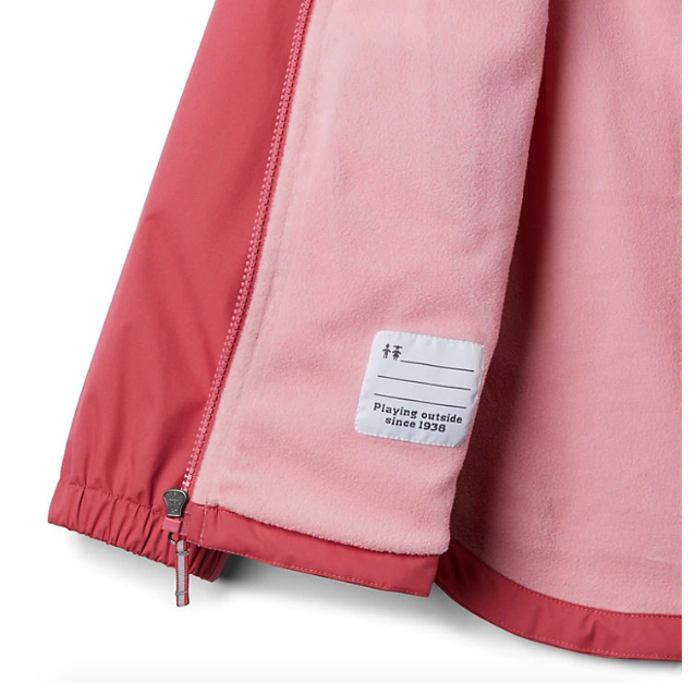 Columbia Rouge Pink Rainy Trails Fleece Lined Jacket