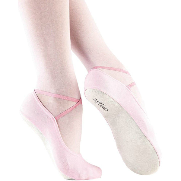 So Danca Girls' Pink Gym Slippers