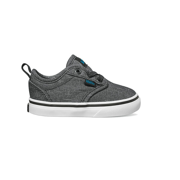f776e2a2108 VANS Black Textile Toddler Atwood Slip-On Sneaker
