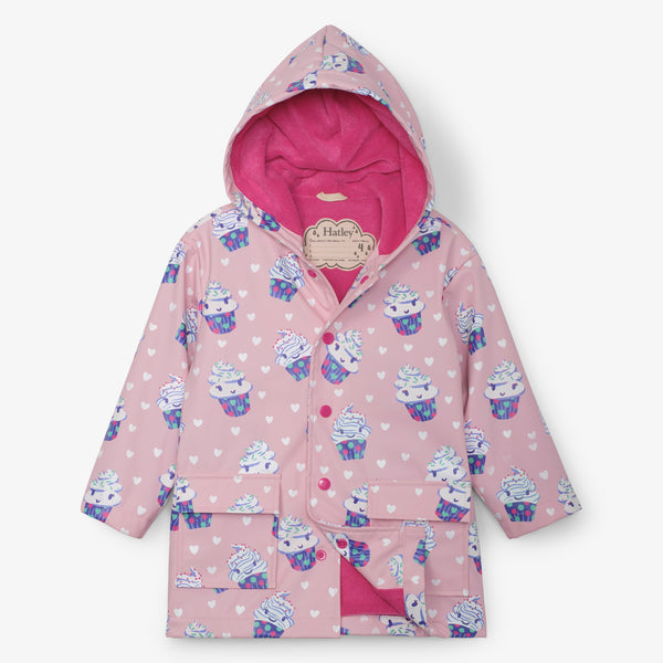 Hatley Dancing Cupcakes Colour Changing Raincoat