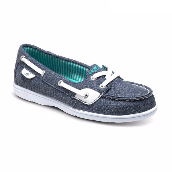 Sperry Sparkle Denim Shoresider Boat Shoe