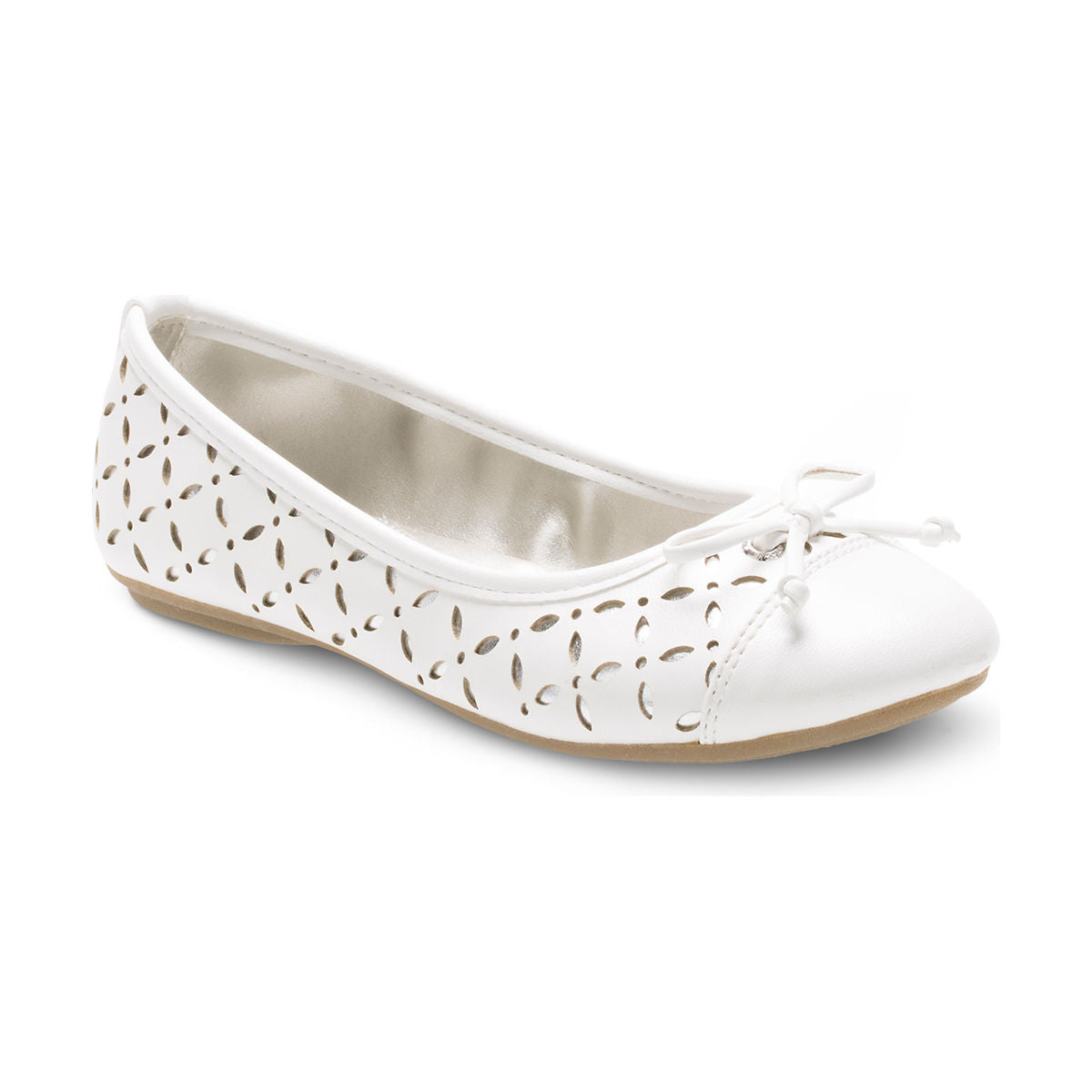 Sperry White Bethany Little/Big Kid Flat