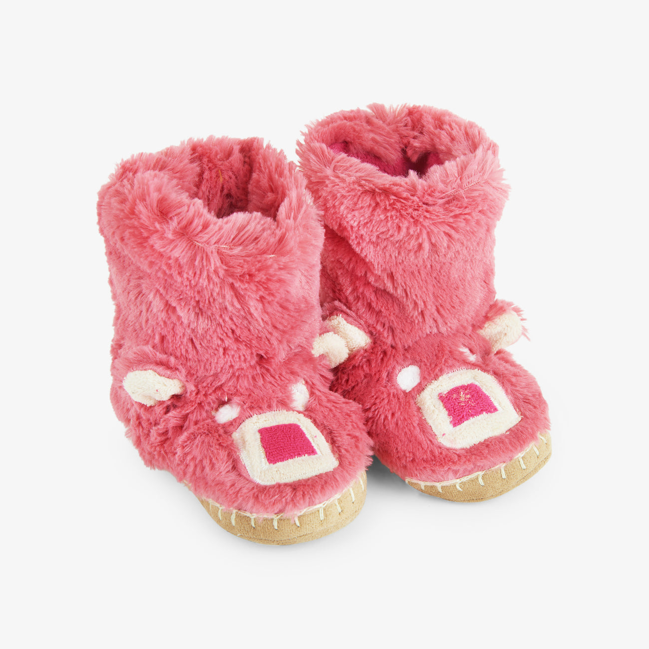 Little Blue House Pink Bear Slippers