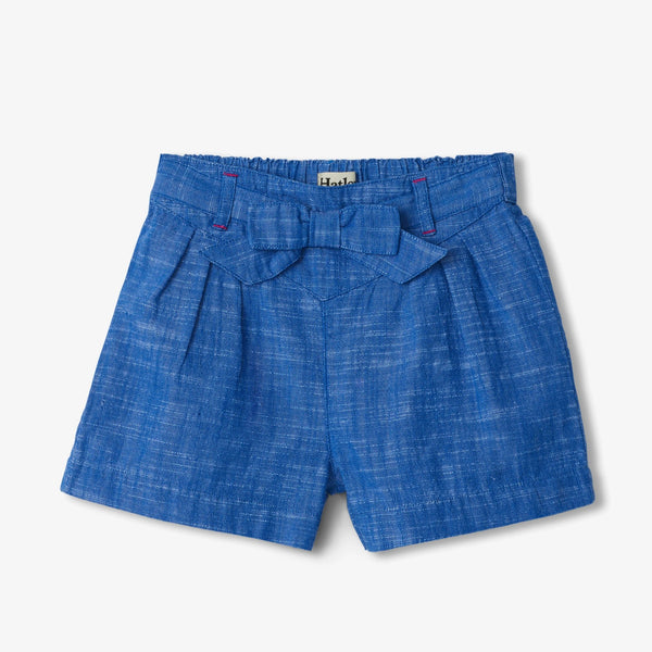 Hatley Belted Chambray Paper Bag Shorts