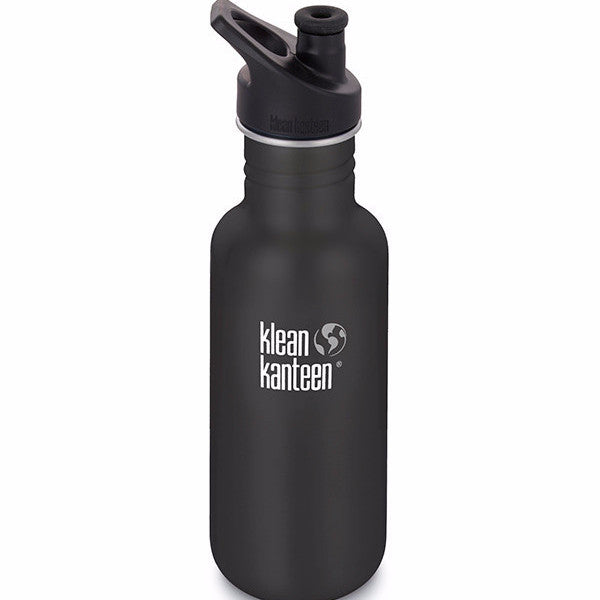 Klean Kanteen Shale Black 18oz Sport Bottle