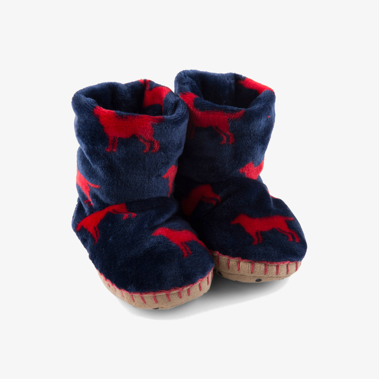 Hatley Red Labs Fleece Slippers