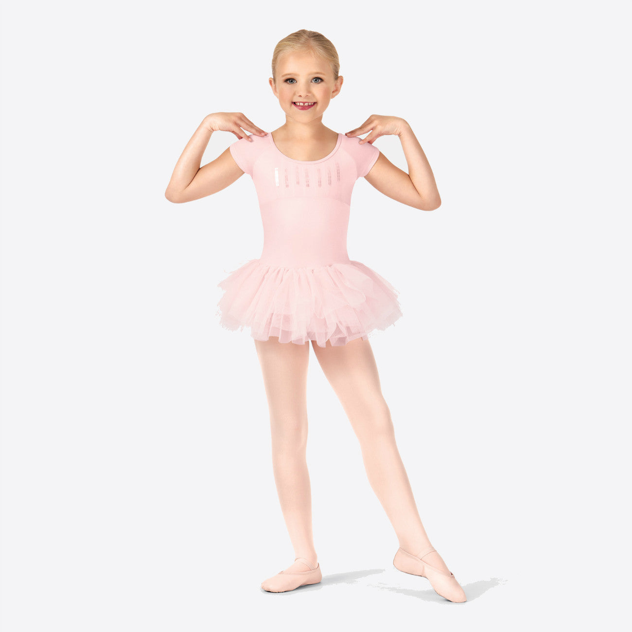 Bloch Candy Pink Heart Back Tutu Leotard