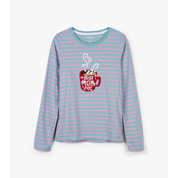 Little Blue House Women's Holiday Cocoa Long-Sleeved Tee