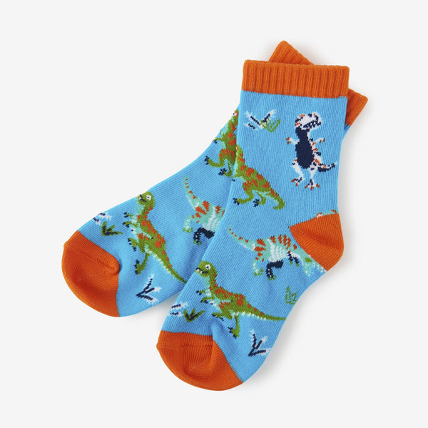 Little Blue House T-Rex Crew Socks