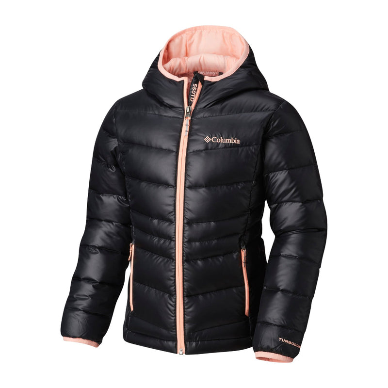 Columbia Tiki Pink Gold 550 Turbo Down Hooded Jacket