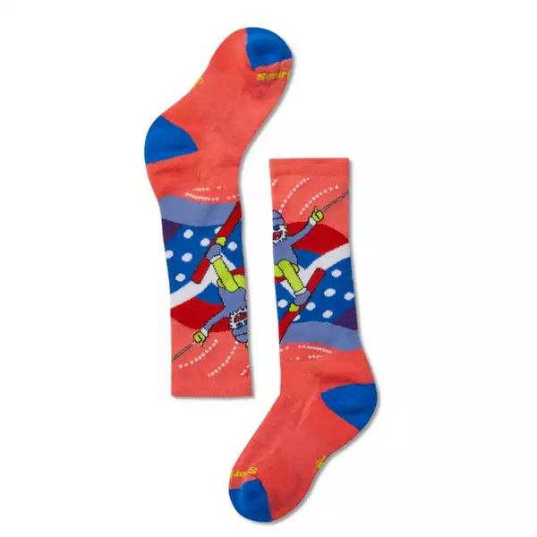 Smartwool Bright Coral Yetti Betty Wintersport Sock