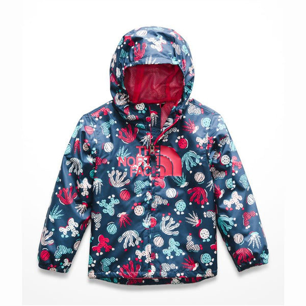 The North Face Blue Wing Teal Lino Print Toddler Novelty Flurry Jacket
